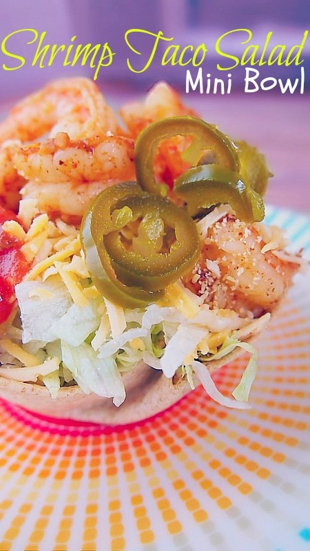 Undressed Skeleton — Mini taco salad with shrimp