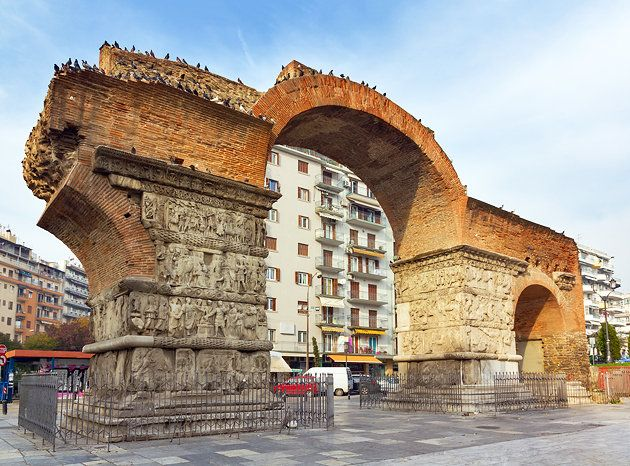 Arch of Galerius an ancient Roman monument dating to around AD 297. This arch was the ancient town's main entrance gate