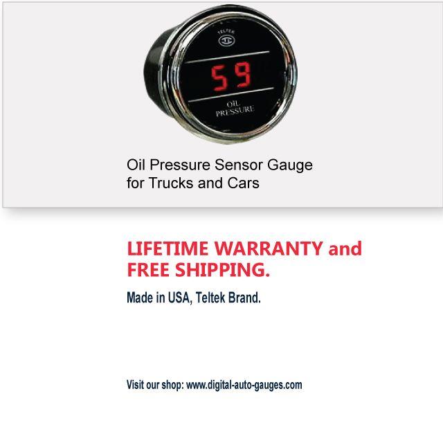 Oil Pressure Sensor Gauge for Trucks and Cars | Digital Auto Gauges
