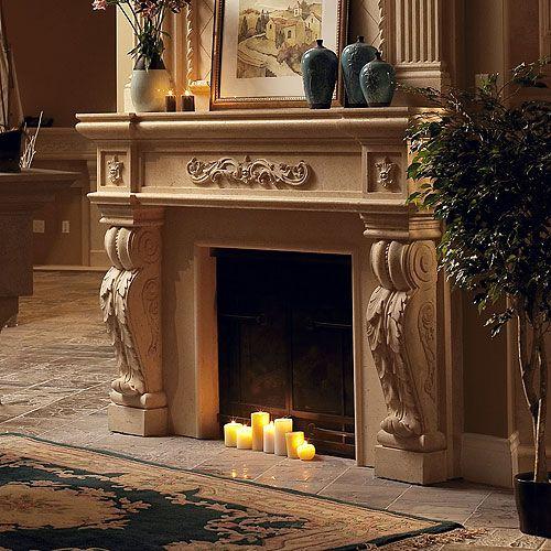 Decorative Stone Fireplace 72 best cast stone fireplace mantels images on pinterest | stone