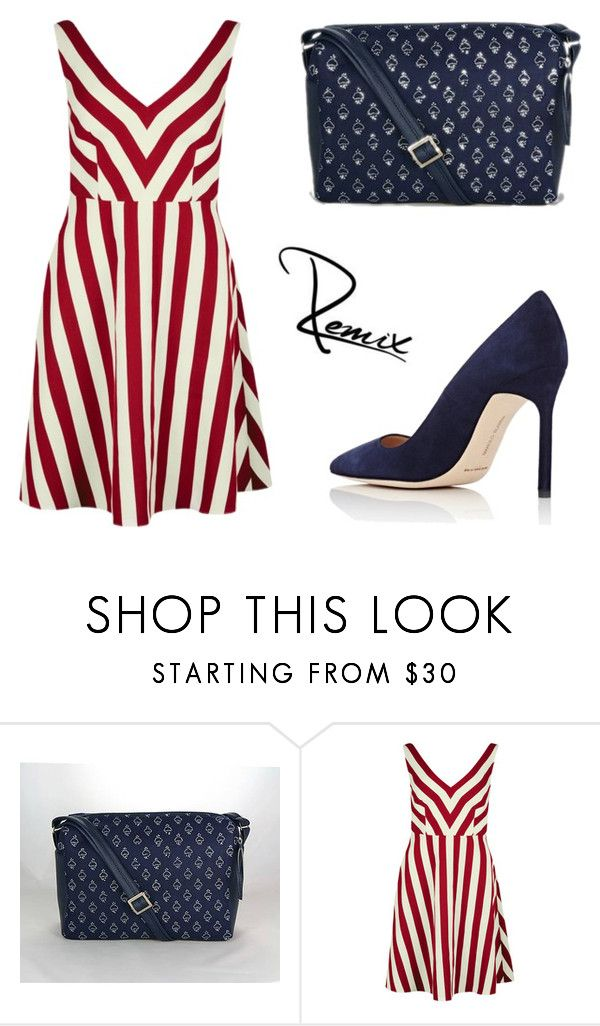"""""""Contrast"""" by aleva on Polyvore featuring RED Valentino and Manolo Blahnik"""