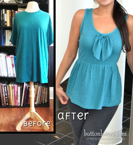 Taylor shows you how to turn your big old t-shirt into a diy shirt dress! Finish it off with a button-down back! #buttons #diy #fashion
