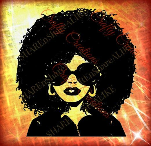 Download Afro SVG Diva Natural Curly Hair Woman Beautiful Face ...