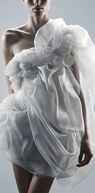 Pinched, puffed & ruffled - creation by YIQING YIN