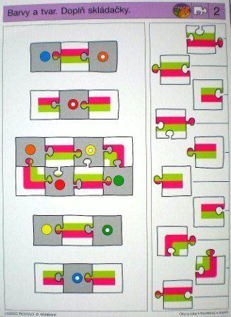 LOGICO PICCOLO   Vizuální vnímání   Kombinuj a doplň   Didaktické pomůcky a hračky - AMOSEK