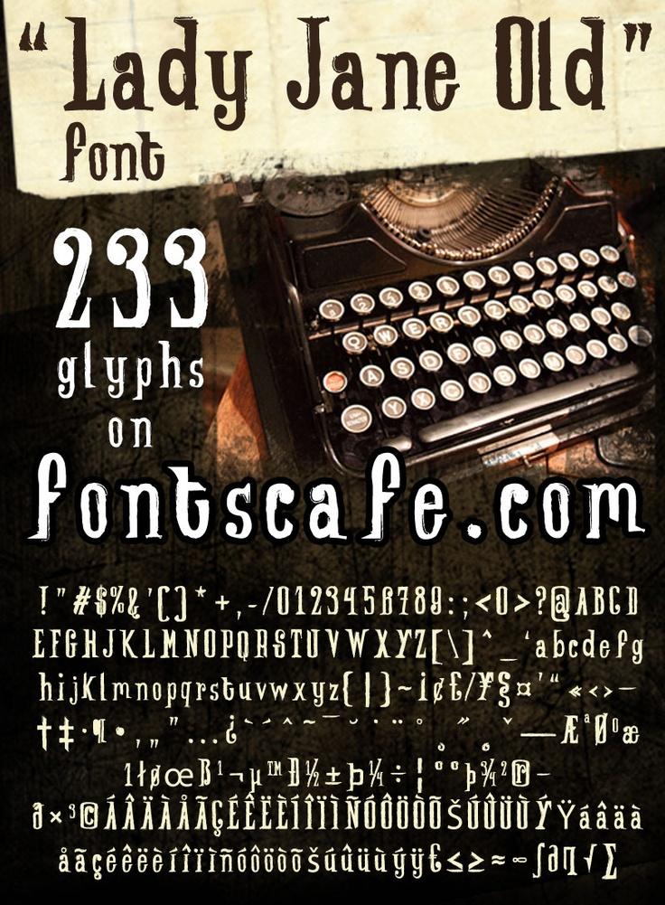 """""""Lady Jane Old"""" font #Fonts #Vintage"""