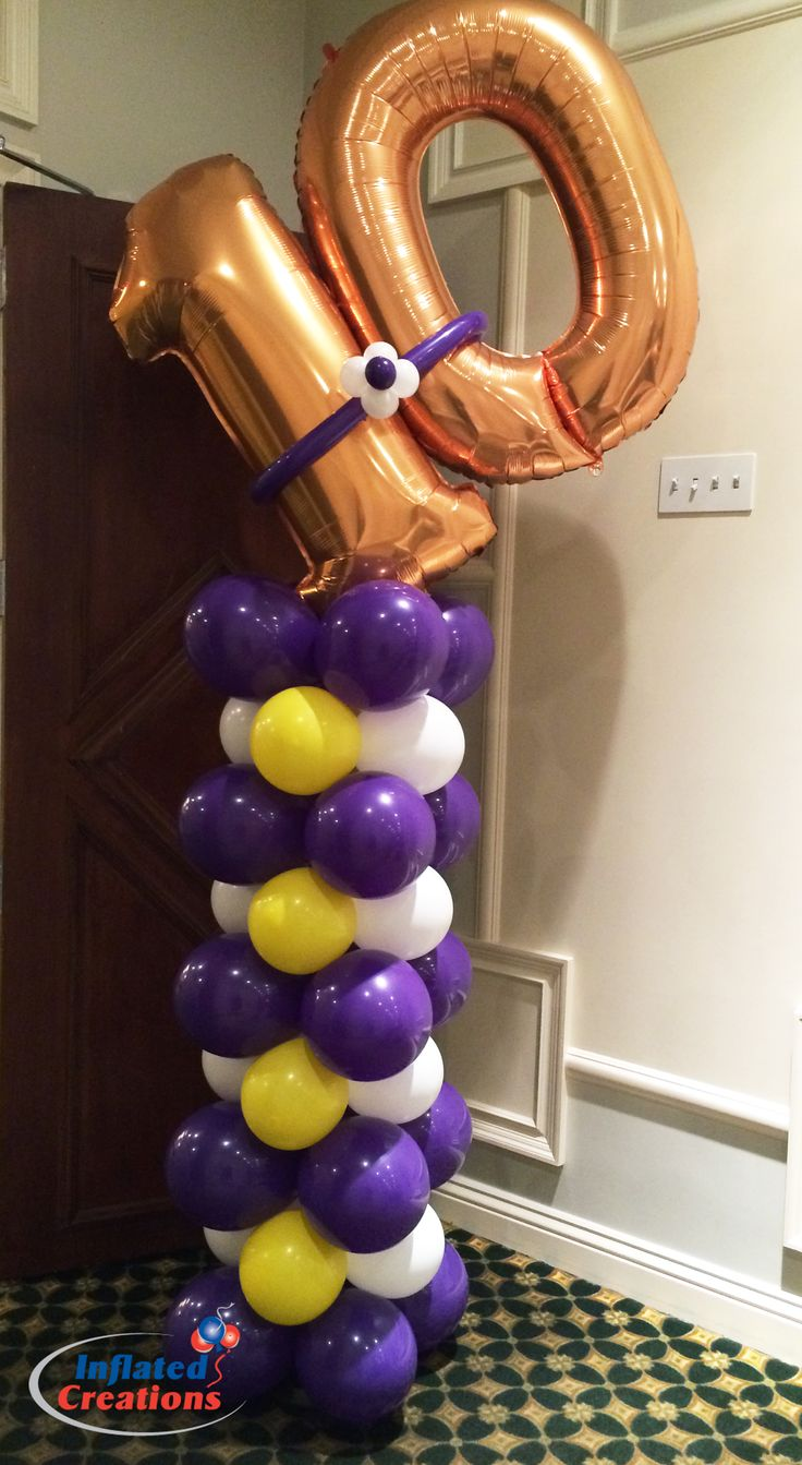 1000 images about balloon numbers on pinterest 60th for Balloon column decoration