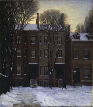 LAWREN HARRIS Houses, Gerrard Street, Toronto (1912). //////Click for further works by Lawren Harris......