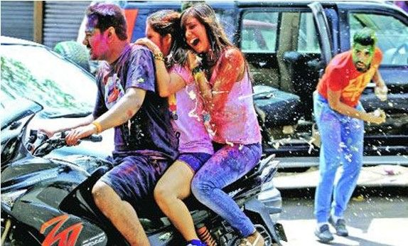 Holi, the festival of colours, is one that everyone in India loves to celebrate. But it's a bit different for bikers- See what bikers have to go through here