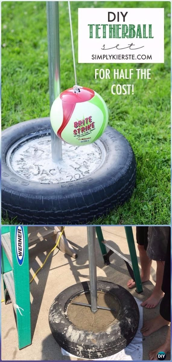 DIY Tire Tetherball Set Instructions DIY