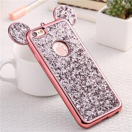 Minnie s Pretty Iphone Case Order yours Now! Available in various colors Bling  up your phone with our infamous two-eared glittery phone case. 4c2478001f3b
