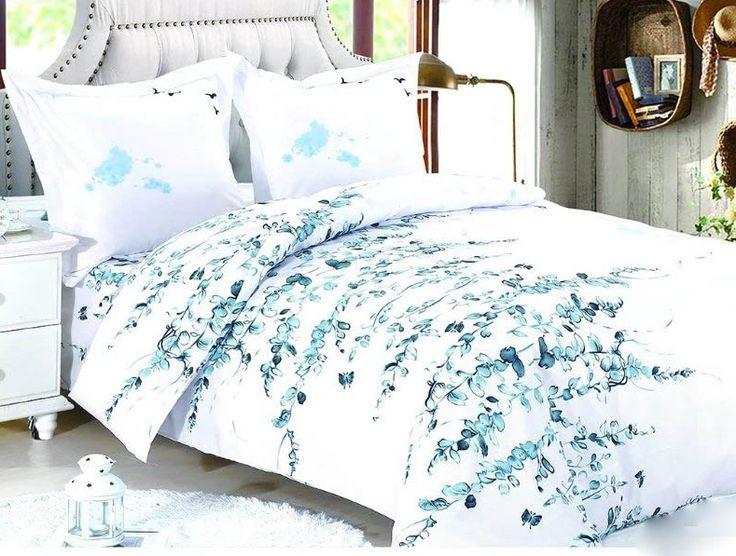 Biele posteľné návliečky so vzorom