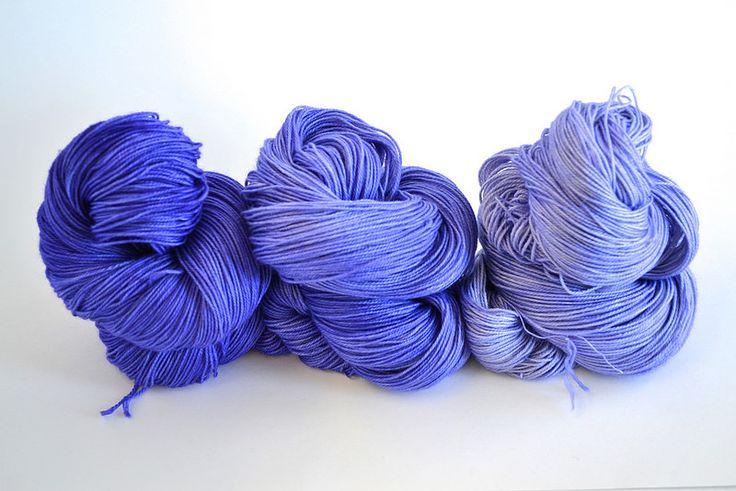 Periwinkle Gradient set Merino cashmere nylon sock