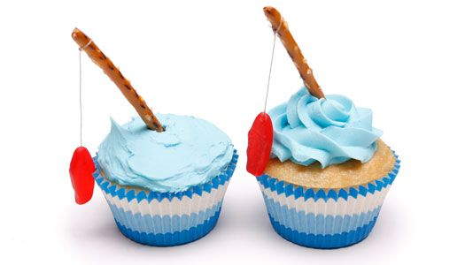 "Go Fish Cupcakes make a fun summer treat! Also perfect for a boy's birthday party or to say ""Thank you"" to Dad."