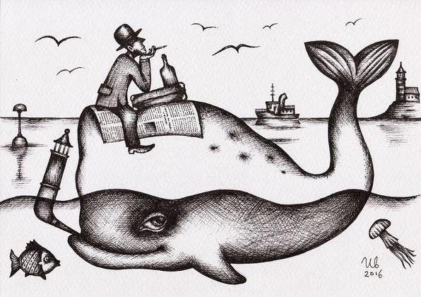 White Whale by Eugene Ivanov #eugeneivanov #sea #voyage #sail #ship boat #cruise #sailor #captain #seafarer #seaman #mariner #vessel #boat #@eugene_1_ivanov