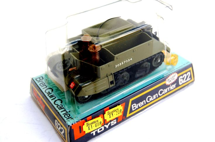 Car Carrier For Sale >> Dinky Toys 622, British WWII Bren Gun Carrier within its original packaging. | Toy Soldiers ...