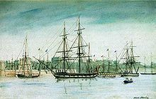 """May 11,1820 – Launch of HMS Beagle, the ship that took Charles Darwin on his scientific voyage.at a cost of £7,803. In July of that year she took part in a fleet review celebrating the coronation of King George IV of the United Kingdom in which she was the first ship to sail under the new London Bridge. After that there was no immediate need for Beagle so she """"lay in ordinary"""", moored afloat but without masts or rigging."""