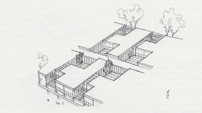 Walter Segal, Studies for high density, low-rise 'carpet' houses, 1968-71
