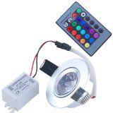 THG 416-flammige Deckenleuchte Scheinwerfer mit RGB-LEDs 1xFernbedienung Farbwechsel