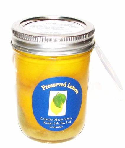 Preserved Meyer Lemons in kosher salt, corriander seeds & a bay leaf. $13. Ships in one day.