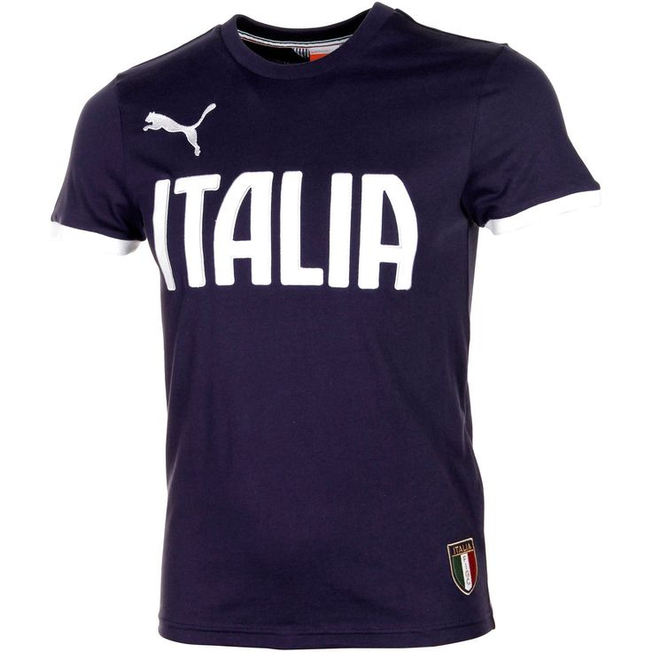 Puma Italy Team Name Graphic T-Shirt - Navy Blue - $27.99
