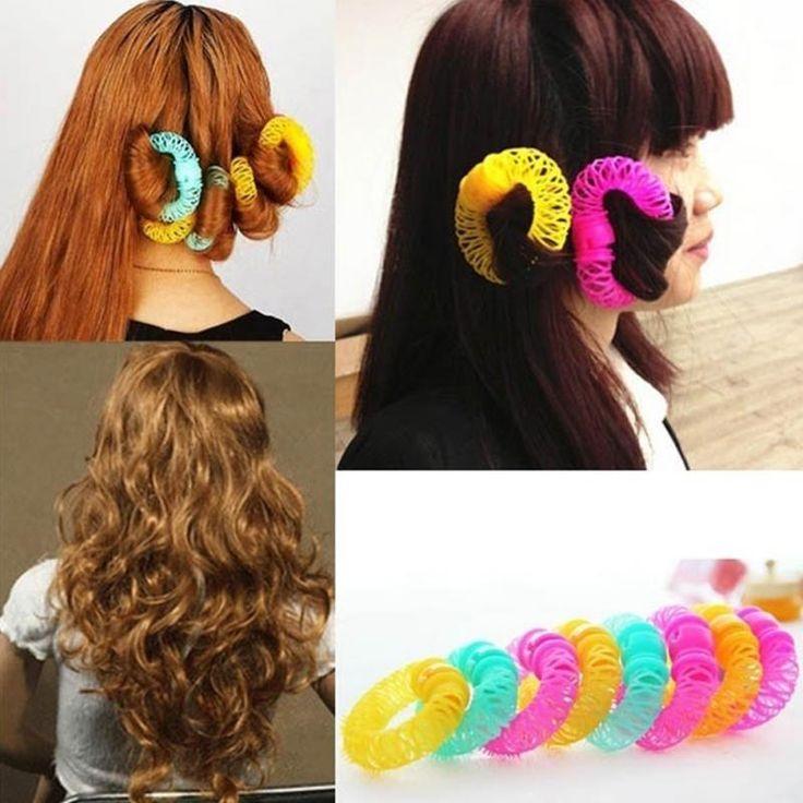 Fashion 8pcs Magic Hair Curler Spiral Curls Roller Donuts Curl Hair Styling Tool #Fashion