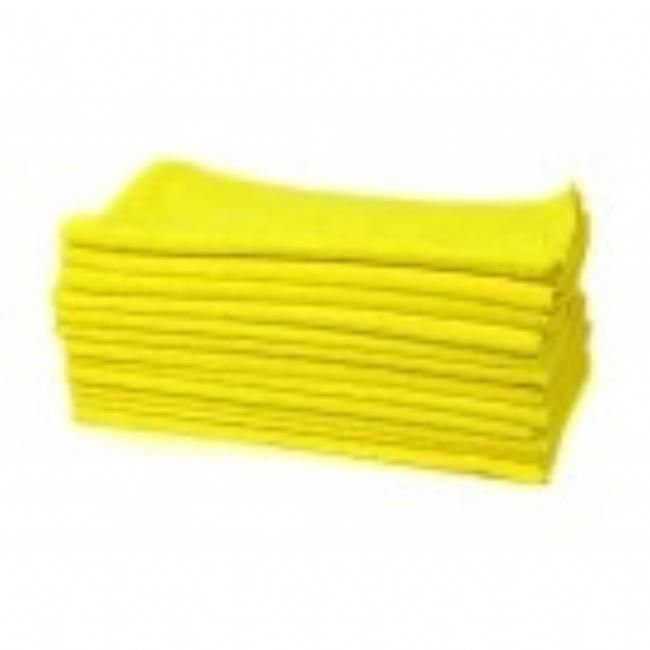 Workhorse Microfiber Towels Yellow Interior (12 stk) | Perfectwheels