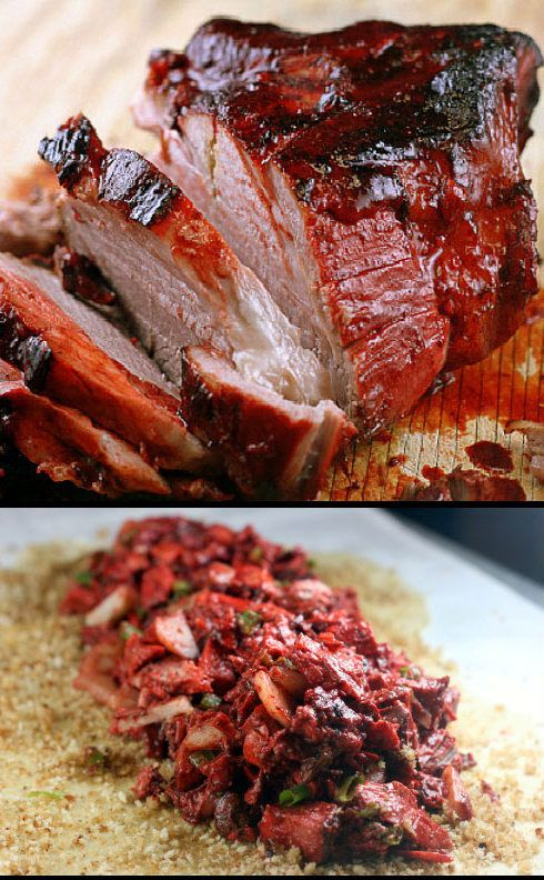 (China)- Melt-in-Your-Mouth Red Roast Pork (Char Siu) and Sauce. It's so tender and sweet, it's like eating candy!