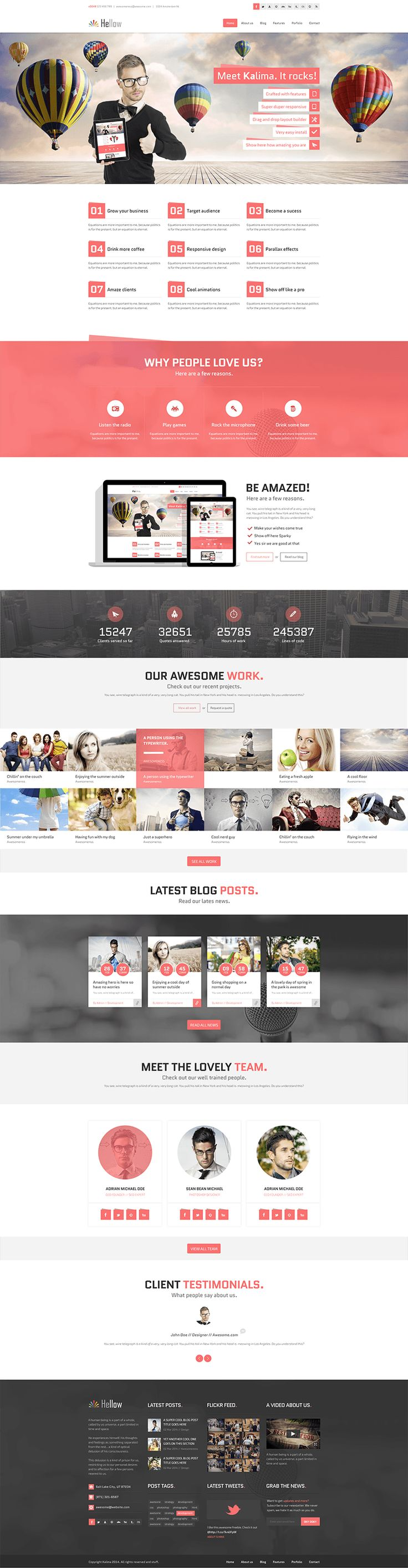 17+ best images about Free psd template webdesign / Website on ...