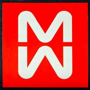 "The first logo proposed by Noorda in the 60's, unfortunately rejected by the Commission and soon replaced with a simpler ""MM""."