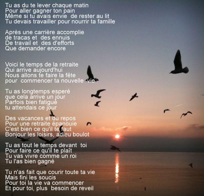 Poeme Amour Poeme Retraite Citation Retraite