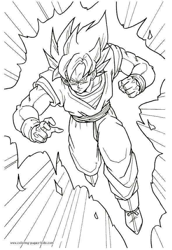 dragonball z coloring page 46gif 590855 pixels