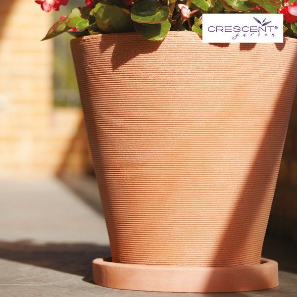 Did you know you can get saucers for any of your planters in matching colors and sizes? Crescent offers both round and square saucers in a variety of sizes. You can match your planters, or your floor surface, but either way protect against damage.