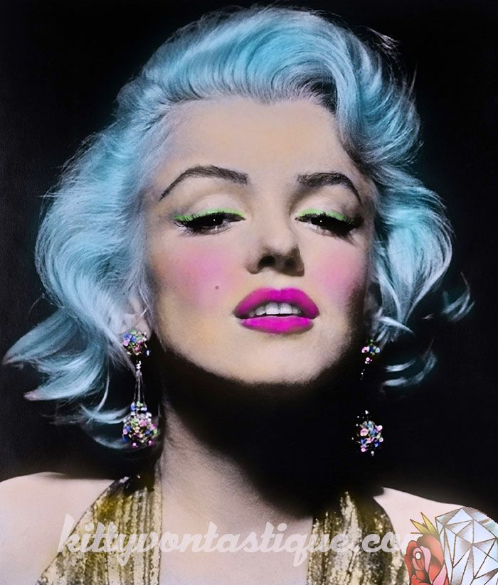 My Alt version of the beautiful Marilyn. Hope this doesn't offend anyone but love thinking what she might look like in this alternate reality. Inspired by the work of Cheyenne Randall Art. Photoshopping by me - kittyvontastique.com