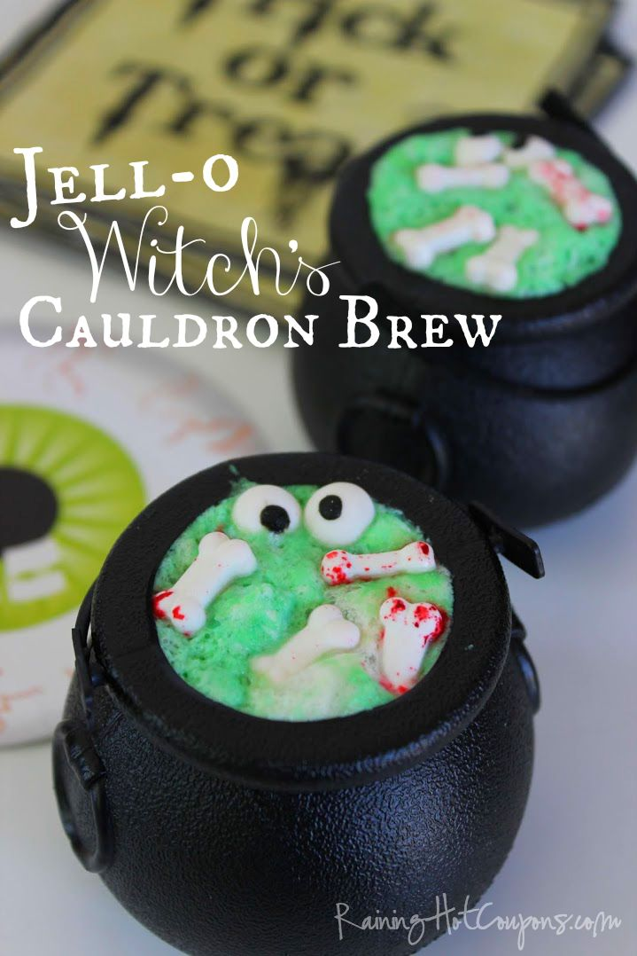 Jell-O Witch's Cauldron Brew (Halloween Recipe)
