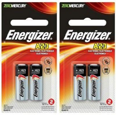 (Energizer A23 Battery, 12 Volt, 4 Batteries (2 X 2 Count Retail Packages)) Buy-Accessories.net