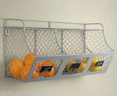 Glory & Grace Rustic Industrial Farmhouse Wall Mount Kitchen Bins Shelf, Chalkboard Tags    #LGLimitlessDesign & #Contest