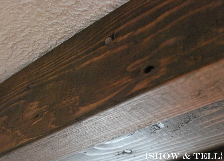 DIY ceiling beams : For the Home : Pinterest