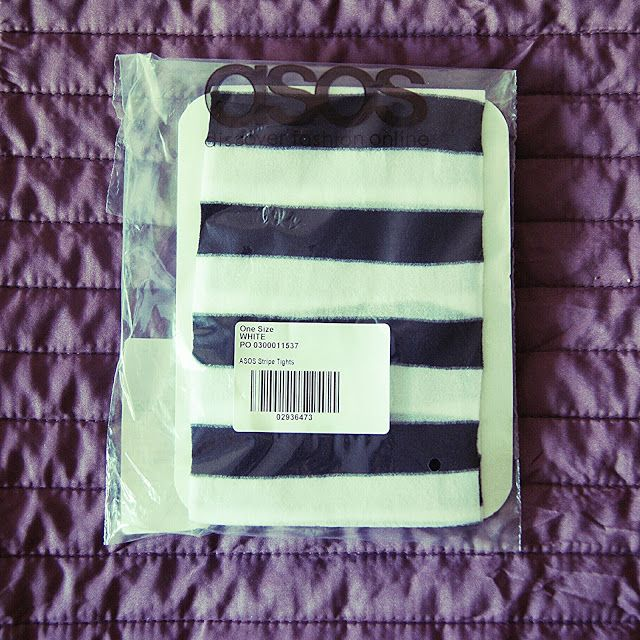 100 packs of tights: Чёрно-белые колготки Asos