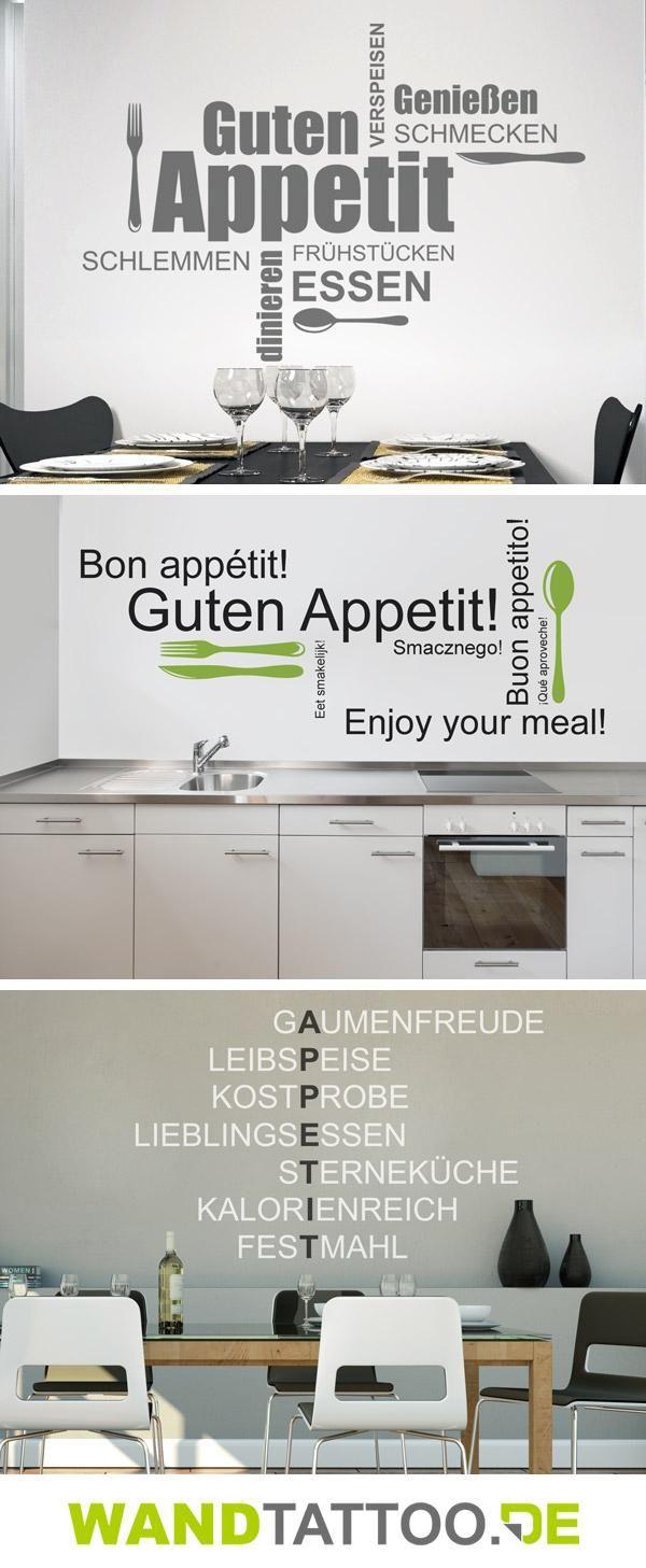 Wandtattoos für die Küche finden Sie hier! Die Guten-Appetit-Wandtattoos bieten viele Möglichkeiten zum Bekleben von Küchenwand, Kochinsel oder Küchentür. Lassen Sie sich inspirieren.