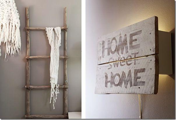 case e interni - casa Norvegia - Scandinavia -  shabby chic - bianco