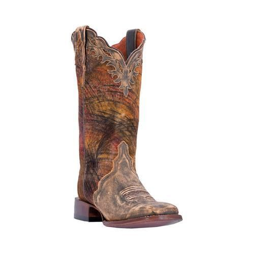 Women's Dan Post Boots Margie Broad Square Toe Cowboy Boot DP3949 Leather