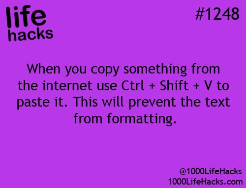 When you copy something from the internet use CTRL + Shift + V to paste it. This will prevent the text from formatting.