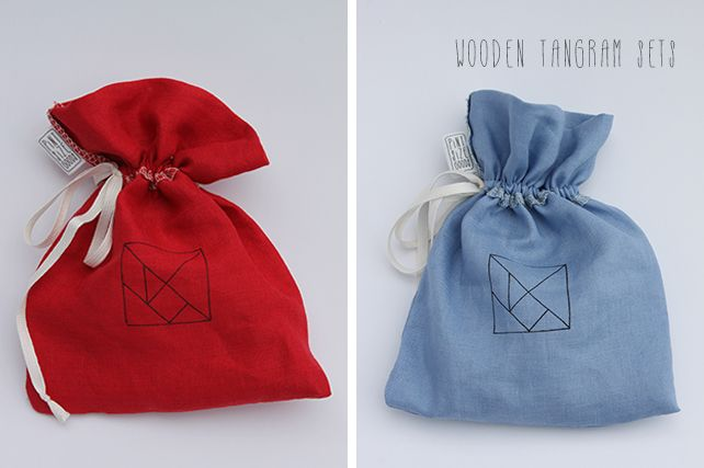 Wooden Tangram Sets by PINT SIZE GOODS (The Tangram Tribe Collection)