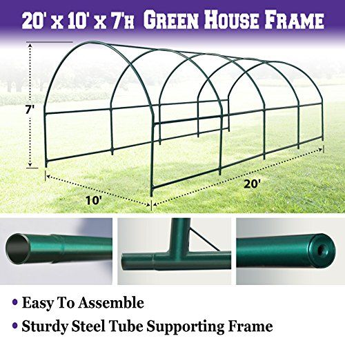 Cheap BenefitUSA Green House Replacement Spare Parts for 20X10X7H Walk In Outdoor Plant Gardening Greenhouse (Frame) https://ledgrowlightplant.info/cheap-benefitusa-green-house-replacement-spare-parts-for-20x10x7h-walk-in-outdoor-plant-gardening-greenhouse-frame/