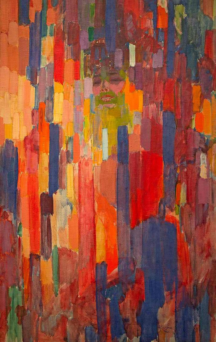 The color-play coloring book moma - Kandinsky Mme Kupka Among Verticals 136 85 Cm By Franti Ek Kupka Czech Painter See The Face In Upper Middle Part Of The Picture
