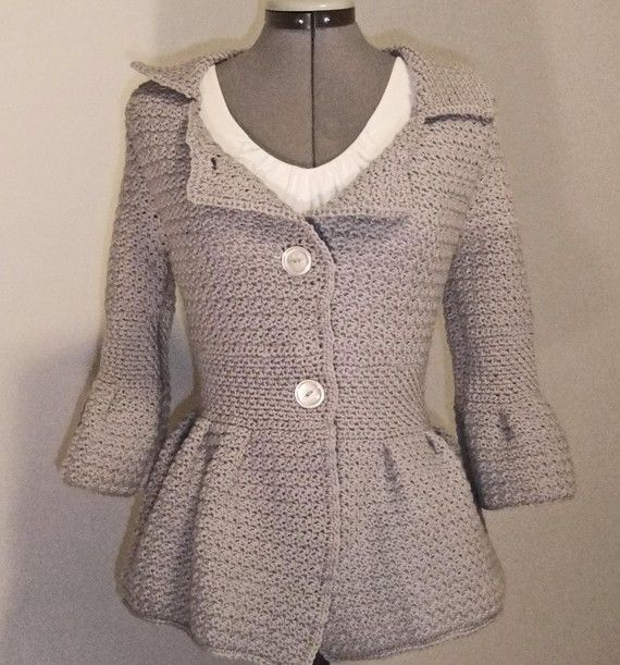 Jacket Cloudy Skies Fitted Sweater Jacket ~ Anyone know where I can get the pattern for this! I just love it!