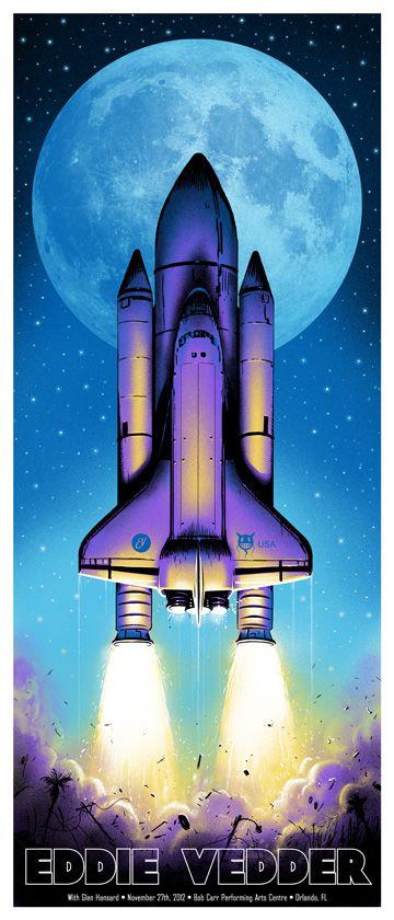 Jeff Soto Eddie Vedder Poster. Space Shuttle!