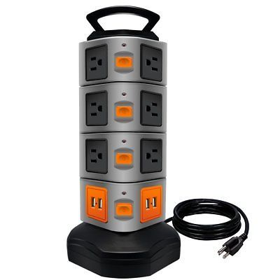 Power Strip Tower, LOVIN PRODUCT Surge Protector Electric Charging Station, 141  UPC - 638183947692, EAN - 0638183947692