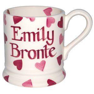 Personalised Pink Hearts 1/2 Pint Mug
